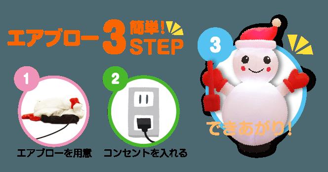 エアブロー簡単3STEPS