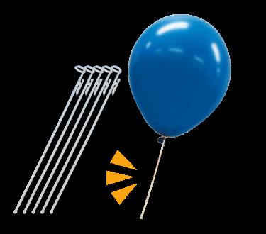 Balloons, balloon sticks