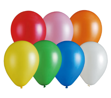 Plain rubber balloons, balloons